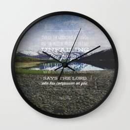 Isaiah 54:10 Wall Clock