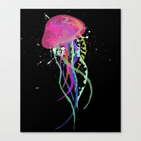 jelly fish Canvas Prints featuring Jelly Fish by Noel Mendoza