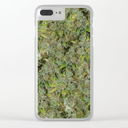 cannabis bud, marijuana macro Clear iPhone Case