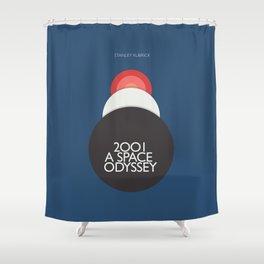 2001 a Space Odyssey, Stanley Kubrick alternative movie poster, dark blue  classic film, cinema love Shower Curtain