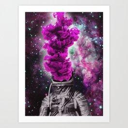 Purple Bang Art Print