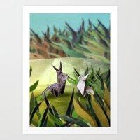 Origami world 2 Art Print
