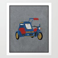 philippines Art Prints featuring Philippines - Tricycle by PyroNipo