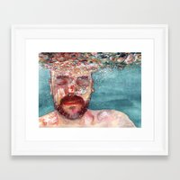 watercolour Framed Art Prints featuring Watercolour by Jose Manuel Hortelano-Pi