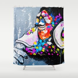 Don't disturb me! Shower Curtain