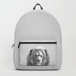 Lion - Black & White Backpack