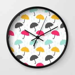Umbrellas Wall Clock