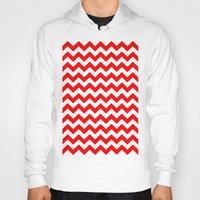 chevron Hoodies featuring Chevron (Red/White) by 10813 Apparel