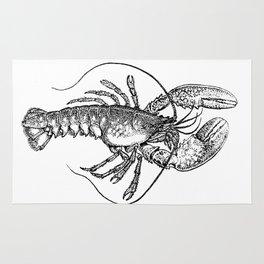 Vintage Lobster illustration Rug