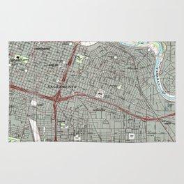 Sacramento California Map (1992) Rug
