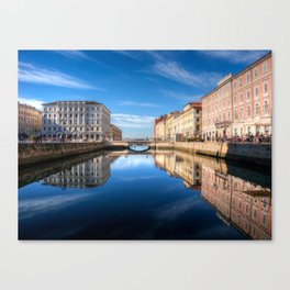 Sunny morning in Trieste, Italy. Canvas Print