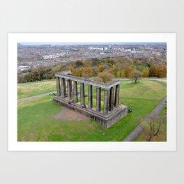 Calton Hill, Scotland Art Print