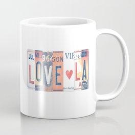LOVE LA License Plate Art Coffee Mug