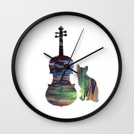 Viola Cat Art Wall Clock