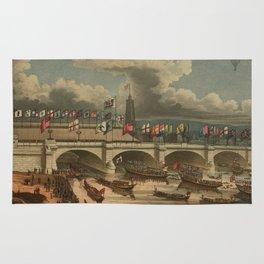 Vintage New London Bridge Illustration (1831) Rug