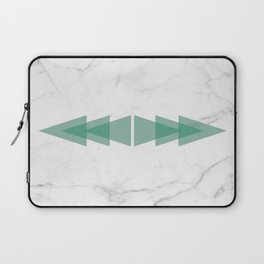 Marble Scandinavian Design Geometric Triangle Laptop Sleeve