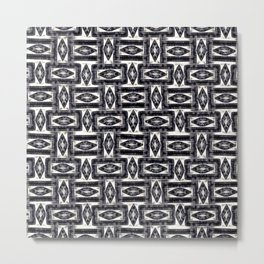 Energetic, electrifying abstract geometric pattern Metal Print
