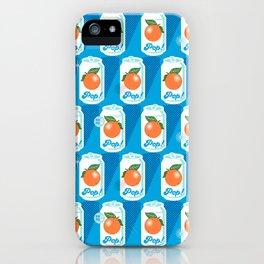 Pop Art Citrus (Sky) iPhone Case