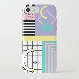 Memphis Pattern 27 - 80s - 90s Retro / 1st year anniversary design iPhone Case