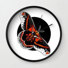 Robin Moth (Hyalophora cecropia)  |   BUGSPOTTING SERIES Wall Clock
