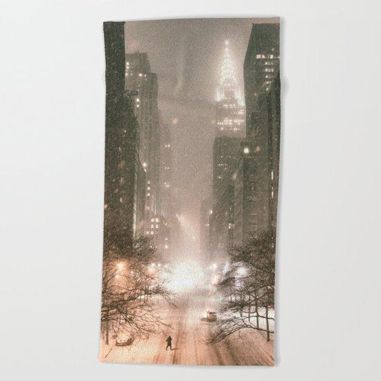 New York City Beach Towel