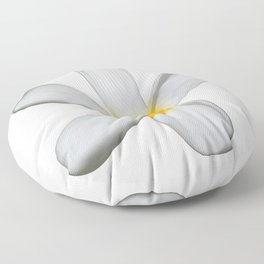 A Single Plumeria Flower Isolated Floor Pillow