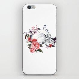 Roses Skull - Death's head iPhone Skin