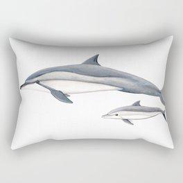 Long-beaked dolphin and baby Rectangular Pillow