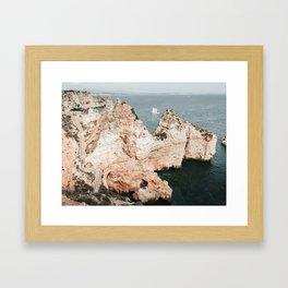Rocky coastline of Ponta da Piedade, Portugal Framed Art Print