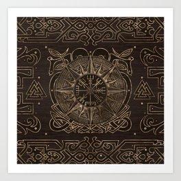 Vegvisir - Viking Compass Ornament Art Print