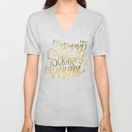Young, Scrappy & Hungry Unisex V-Neck