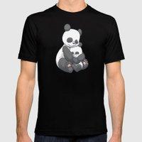 Panda Hug MEDIUM Mens Fitted Tee Black