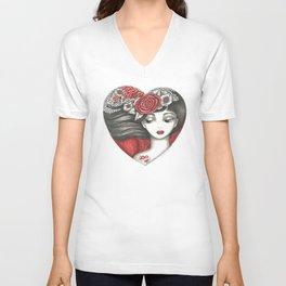 Valentine Girl Unisex V-Neck