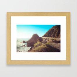 Bridge on the Pacific Coast Highway Framed Art Print