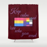 keep calm Shower Curtains featuring Keep Calm... by Kaitlynn Marie