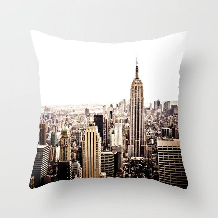 New York City Skyline Throw Pillow By Newyorkphotography