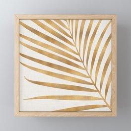 Metallic Gold Palm Leaf Framed Mini Art Print