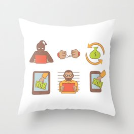 Cyber Monday Hackers Throw Pillow