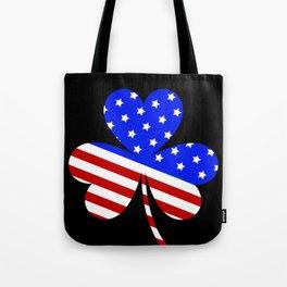 Irish American Flag Vintage Shamrock design Saint Patrick D Tote Bag
