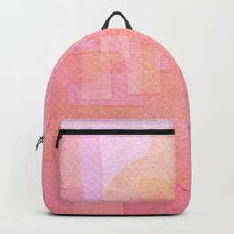 Pink and golden city watercolor Backpack