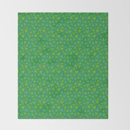 animal crossing grass pattern Throw Blanket
