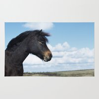pony Area & Throw Rugs featuring DARTMOOR PONY by Don Hooper