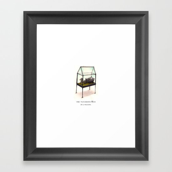 the wandering Eye in a wagon Framed Art Print