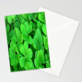 Lucky Four Leaf Clover Stationery Cards