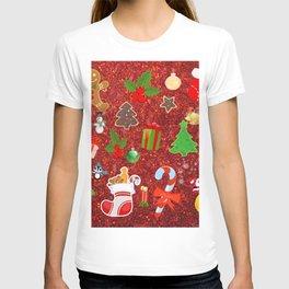 Cute Christmas Mix, red T-shirt