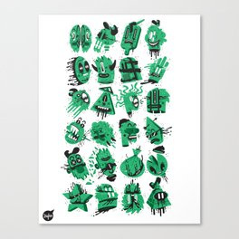 Monsters Heads  Canvas Print