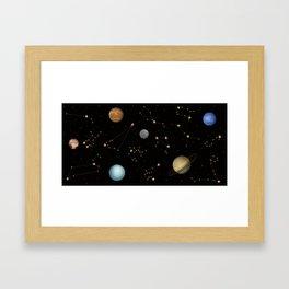 Coffee in Space 3 Framed Art Print