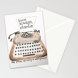 Typewriter Perks of being a Wallflower quote Stationery Cards