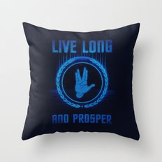 Live Long and Prosper - Spock's hand - Leonard Nimoy Geek Tribut Throw Pillow