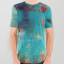 Aztec Turquoise Stone Abstract Texture Design Art All Over Graphic Tee